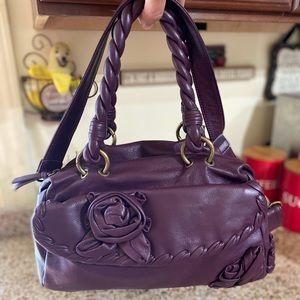 Fiore by Isabella Fiore Purple Leather Handbag